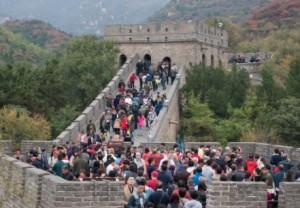 muraille de chine touristes fête du printemps